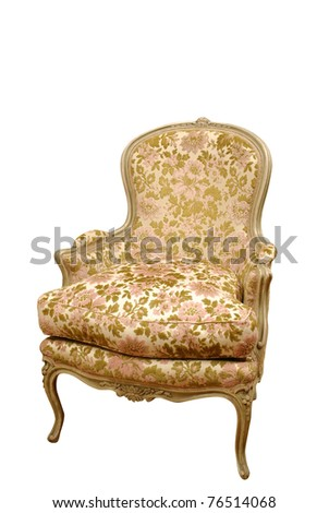 old style classic armchair - stock photo