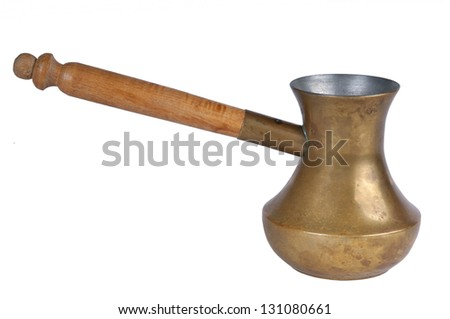 Old style coffee pot - stock photo