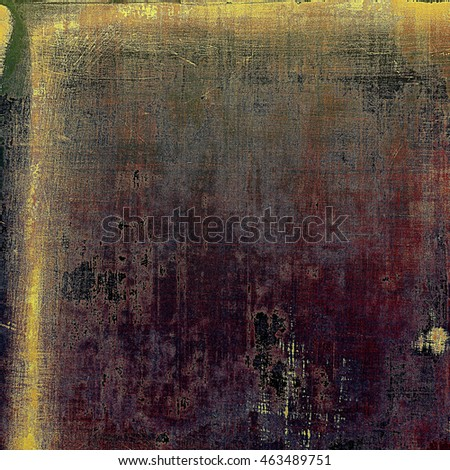 Old style design, textured grunge background with different color patterns: yellow (beige); brown; gray; purple (violet); pink; black