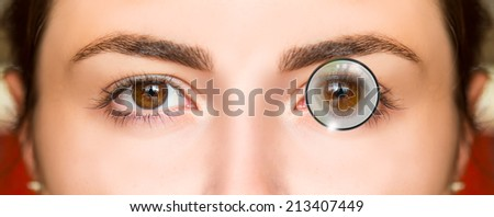 old style glasses - stock photo