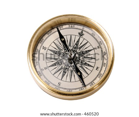 Old style gold compass