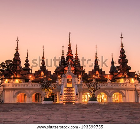 Old-style hotels - Thailand art legacy of chiang mai asia Thailand  - stock photo