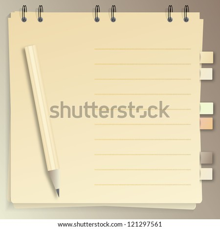 Old style notepad, jpeg version - stock photo