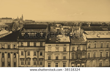 old style photo of home in Krakow, Poland. See more in my portfolio.