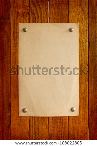 Old  style retro paper on  wooden board - stock photo