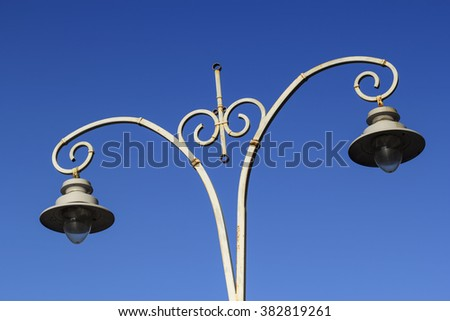 Old style street lantern in Kiev, Ukraine - stock photo