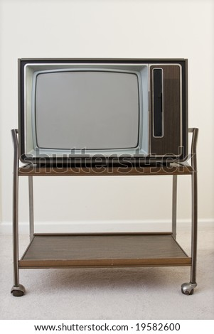 Old style television, from around 1980.