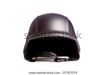 old style us army motorcycle helmet - stock photo