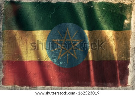 Old Style Vintage Country Flags - stock photo