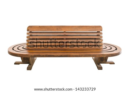 Old style wood chair isolated on white - stock photo