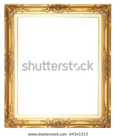 Old style wood frame - stock photo