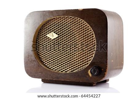 Old-styled Radio - stock photo