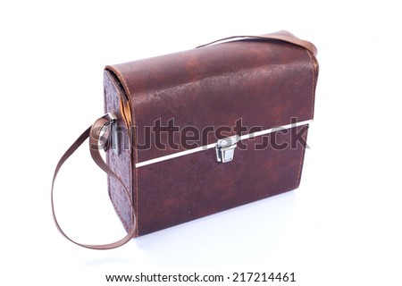 old suitcase leather,