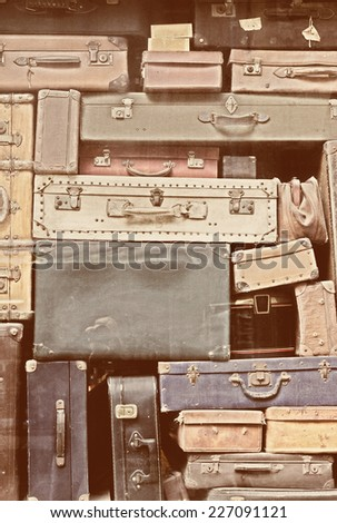 Old Suitcases - Grain added - stock photo