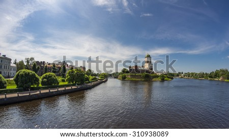 Old Swedish castle in Vyborg, Leningrad region, Russia