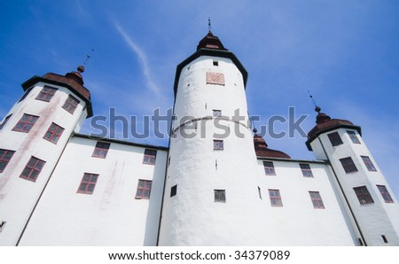 Old Swedish castle in white lime