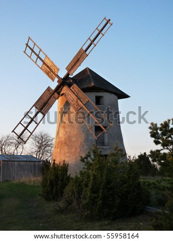 Old swedish windmill