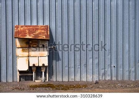 Old switchbox - stock photo