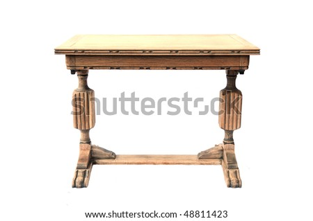 old table - stock photo
