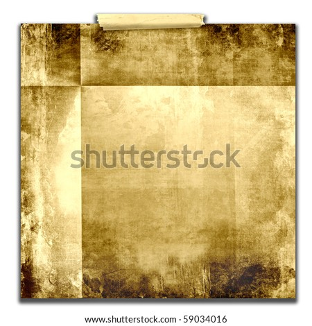 Old Taped Paper Texture - stock photo