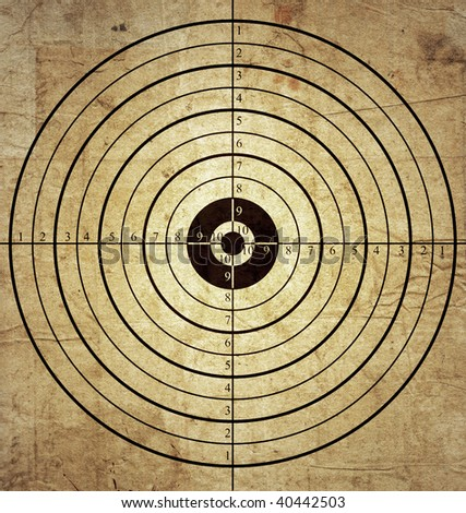 old target - stock photo