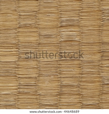 Old tatami texture. (Japanese flooring material igusa straw ) - stock photo