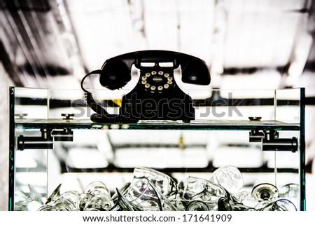 Old Telephone - stock photo