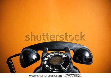 Old telephone. - stock photo