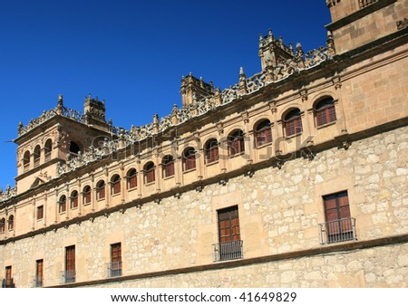 Old temple in Palace in Salamanca, Spain
