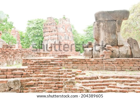 Old temple in Thailand - stock photo