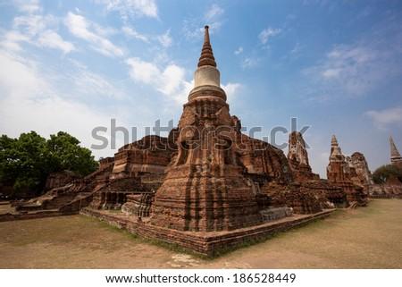 Old Temple of Ayuthaya, Thailand - stock photo