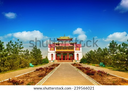 Old Temple. Republic of Kalmykia. Russia - stock photo