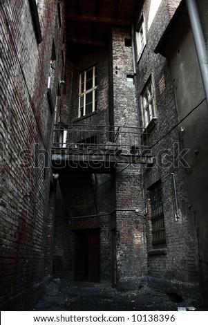 Old tenement - stock photo