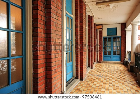 old Terrace - stock photo