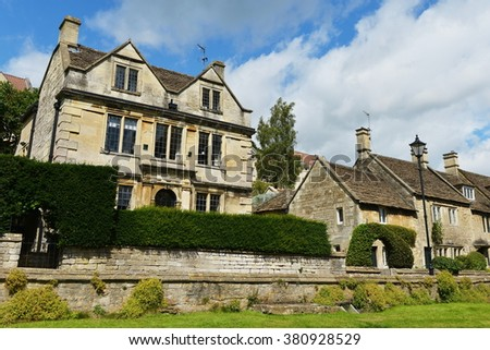 Old Terraced Houses in a Picturesque English Town