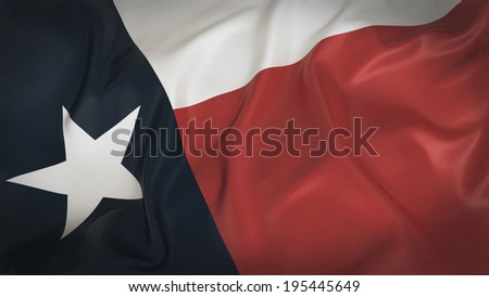 Old Texas Flag - stock photo