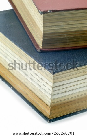 Old Text book or Bilble - stock photo