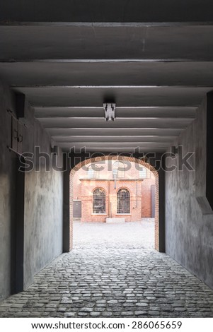 Old textile factory renewed as a museum - stock photo