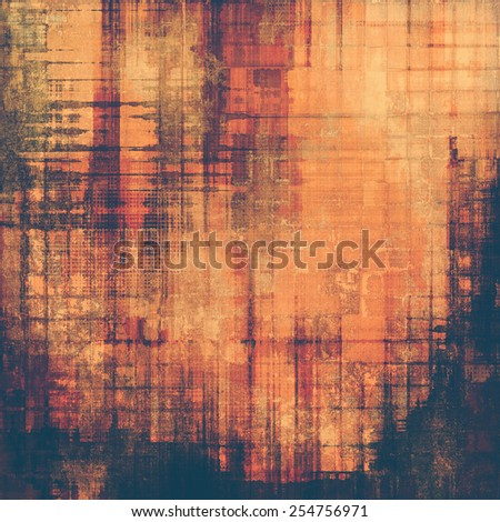 Old texture - ancient background with space for text. With different color patterns: yellow (beige); brown; purple (violet); red (orange) - stock photo