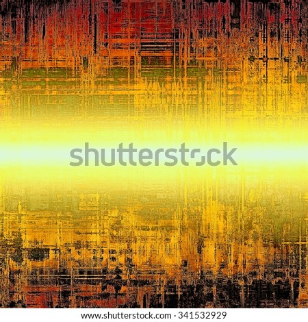 Old Texture or Background. With different color patterns: yellow (beige); brown; red (orange); black - stock photo