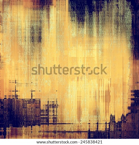 Old texture - perfect background with space for your text or image. With different color patterns: purple (violet); yellow (beige); brown; blue - stock photo