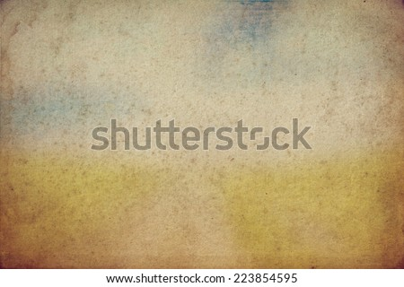old texture with clouds and road - stock photo