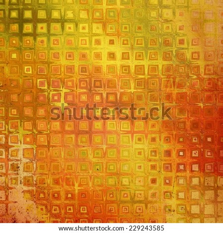 Old texture with delicate abstract pattern as grunge background. With different color patterns: yellow, brown, orange, green