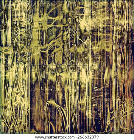 Old texture with delicate abstract pattern as grunge background. With different color patterns: yellow (beige); brown; gray; green - stock photo