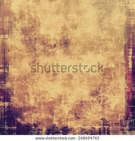 Old texture with delicate abstract pattern as grunge background. With different color patterns: brown; gray; yellow (beige); purple (violet) - stock photo