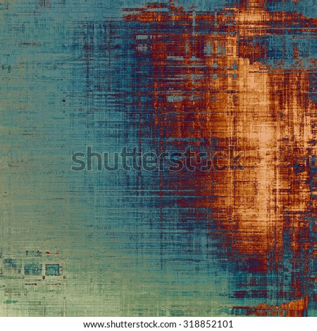 Old Texture. With different color patterns: yellow (beige); brown; blue; gray - stock photo