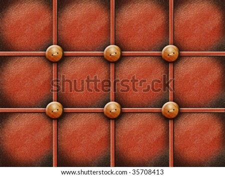 Old texture with wooden buttons. Abstract illustration