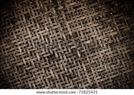 old textured bamboo handicraft background - stock photo