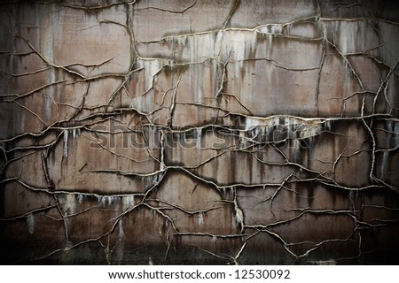 Old textured brown wall - stock photo
