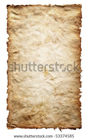 Old textured paper with frayed edges - stock photo
